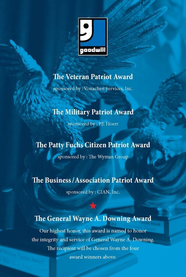 The Goodwill Military Patriot Award sponsored by P.J. Hoerr