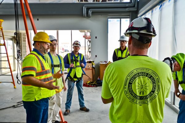 Safety trainings at PJ Hoerr construction sites